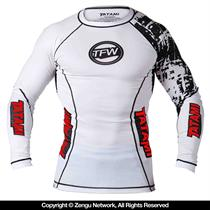 Tatami White Flex Rashguard Long Sleeve